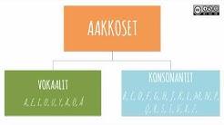 SUOMENKIELI:vokaalit ja konsonantit