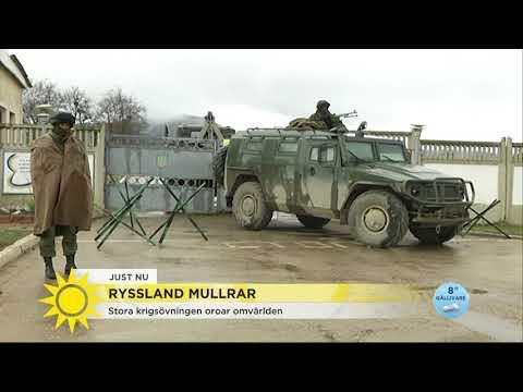 Ryssland mullrar - stor krigsövning oroar omvärlden - Nyhetsmorgon (TV4)