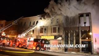 3rd Alarm Building Fire - Shenandoah, PA - 02/14/2016