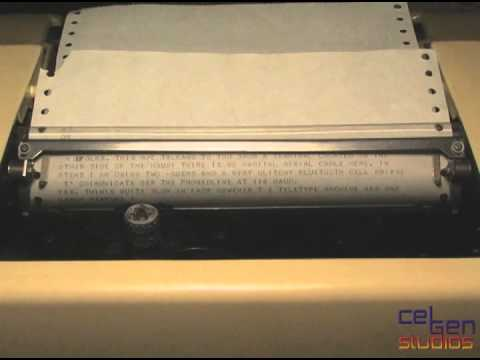 Telecommunicating with a Teletype