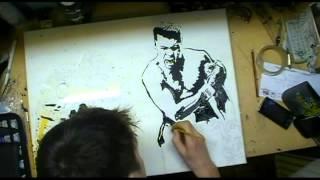Muhammad Ali Painting Time Lapse
