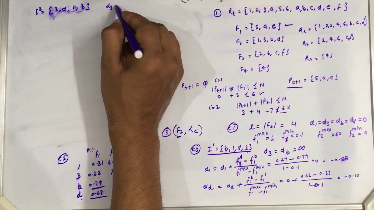 Complete solved example of a Multi-objective Problem using NSGA-II (part-2)