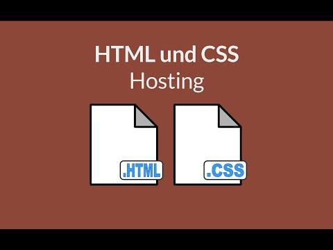 HTML Und CSS - Webseite Veröffentlichen (Hosting)