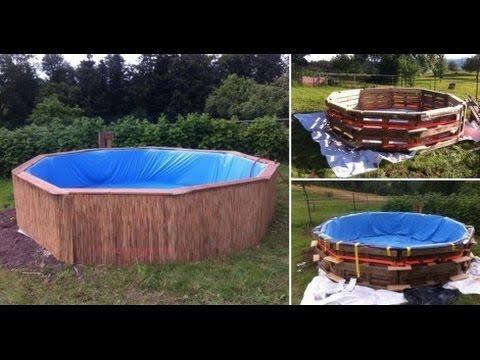 Como hacer piscina con palets youtube for Piscina con palets