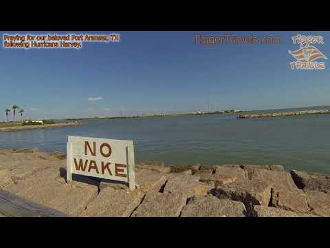 The Jetties at Port Aransas Harbor, Texas - Praying for our beloved Port A following Harvey