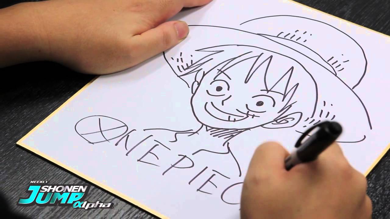 One Piece Luffy Eiichiro Oda Official Creator Sketch Video Youtube