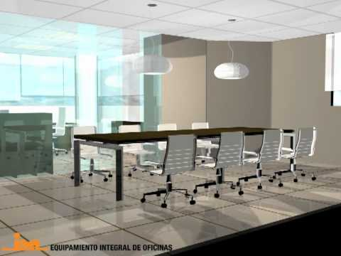 Proyectos 3d de oficinas en madrid equipamiento integral for Oficinas de muface en madrid