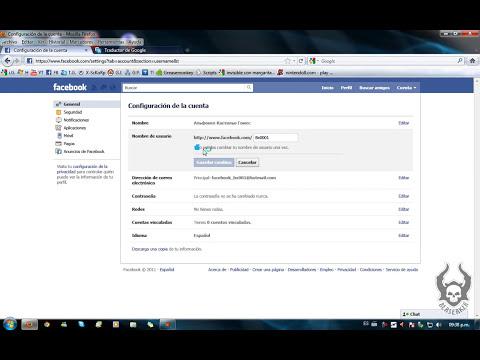 Como cambiar tu nombre en facebook por letras raras (Actualizado 2011)