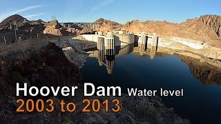 Hoover Dam Water Levels 2003 to 2013