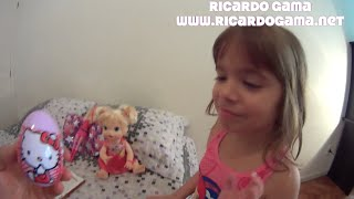 ovo surpresa eggs surprise hello kitty barbie super pink backyardigans peppa pig toys juguertes kids