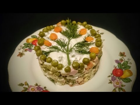 Настоящий русский салат ОЛИВЬЕ Рецепт История создания