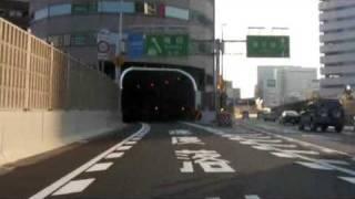 The Hanshin Expressway Penetrates A Building 阪神高速道路梅田出口