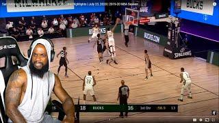 GIANNIS BEST PF?! San Antonio Spurs vs Milwaukee Bucks - Full Game Highlights   July 23, 2020