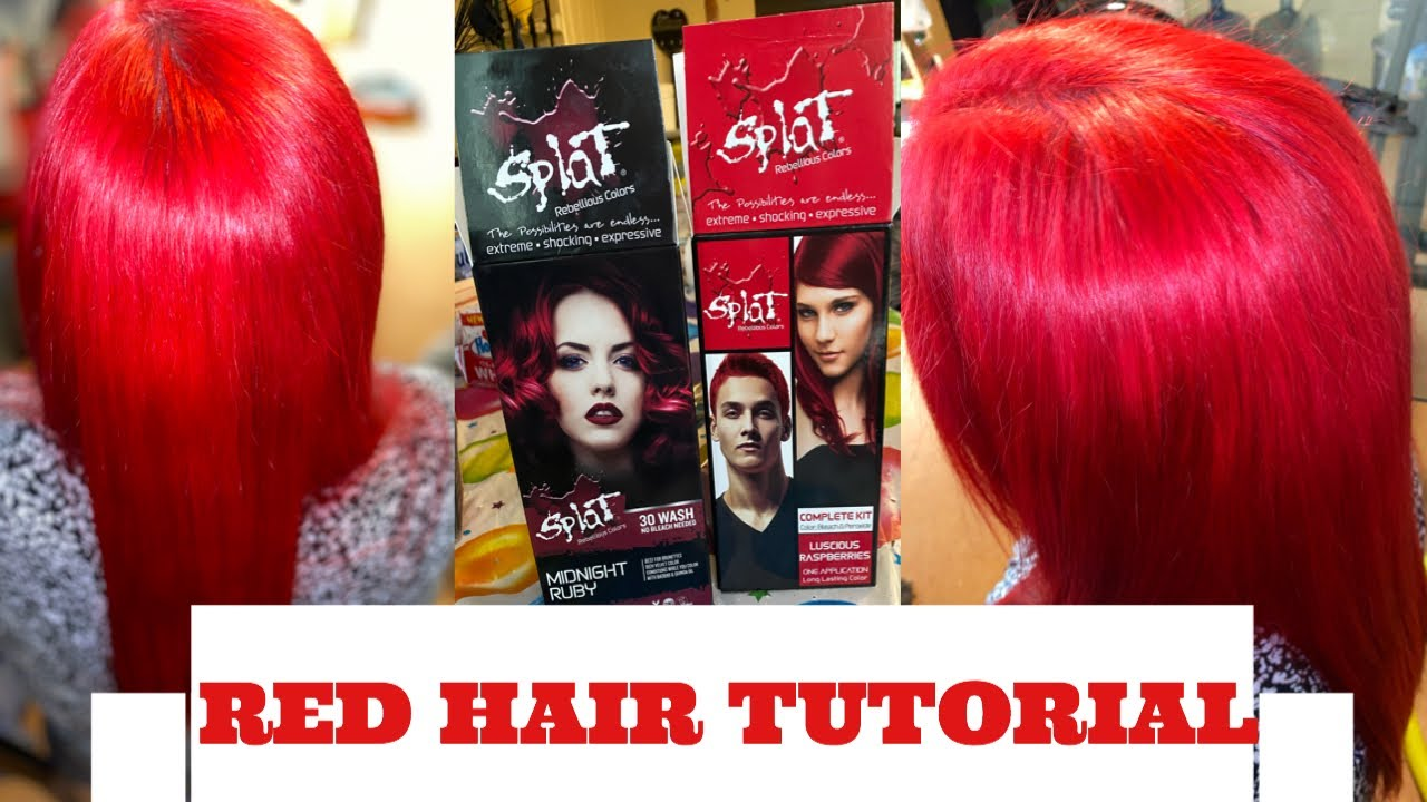 How To Dye Your Hair Red Red Hair Tutorial Red Hair With Splat Youtube