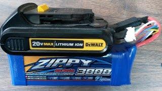 DeWalt 20v Adapter for LiPo Battery