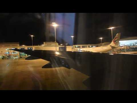 Night Take Off from Sydney Kingsford Smith Airport SYD -- China Eastern Boeing 777-300ER