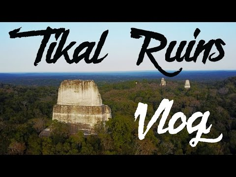 TIKAL RUINS (DRONE) VLOG - FLORES GUATEMALA - CENTRAL AMERICA TRAVEL - VLOG 004