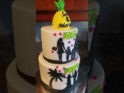 Anniversary Silhouette Cake