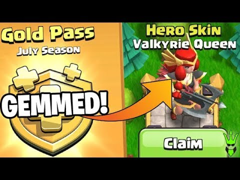 GOLD PASS GEM SPREE FOR THE VALK QUEEN! - Clash Of Clans