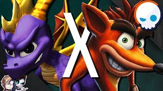 SPYRO the Dragon vs CRASH Bandicoot Crossovers! | Video Game Crossover Web