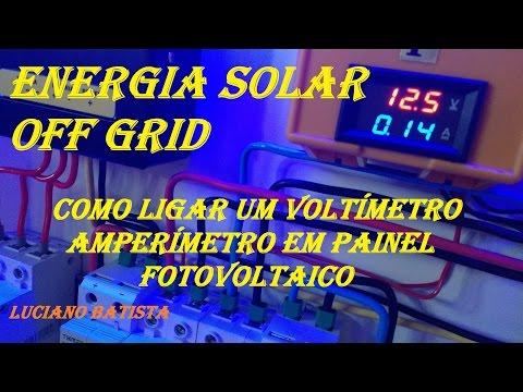 😀COMO LIGAR UM VOLTÍMETRO AMPERÍMETRO COM SHUNT NA ENERGIA SOLAR OFF GRID?📯