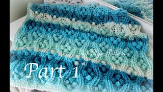 How to Crochet Aran Cables and Popcorns Beautiful Textured Stitch, Part 1