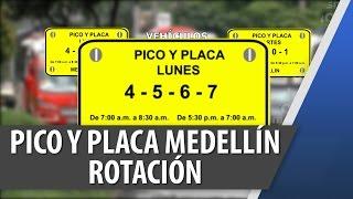 Pico y Placa en Medellín Rotación