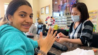 Getting my nails done with my mom Vlog