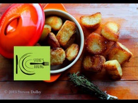 Crispy Duck fat Roast Potatoes (Stevescooking)