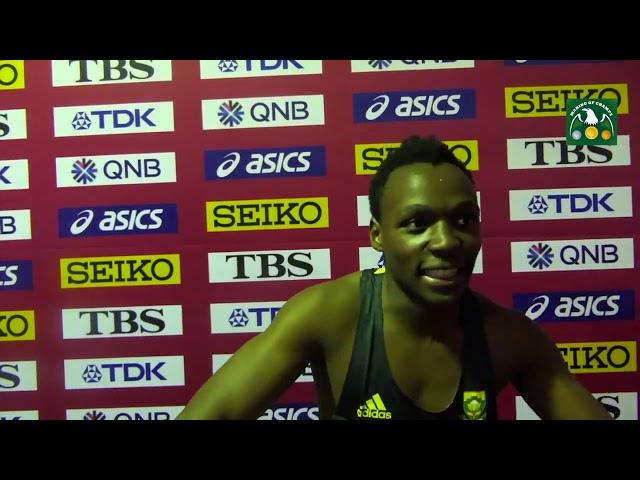 Clarence MUNYAI RSA Doha 2019 IAAF World Championships Men's 200m Semis