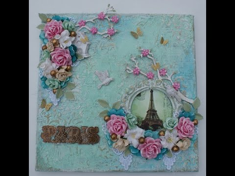 Announcement and Mixed Media Springtime in Paris Canvas!