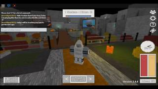 Playing Roblox Blox Hunt and getting the nerf cape hat