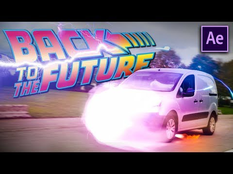 Create the DELOREAN CAR EFFECTS - Back To the Future (After Effects)