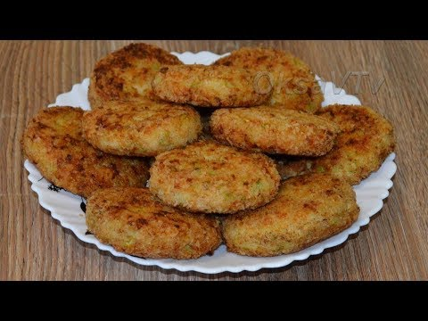 Куриные котлеты с кабачком. Cutlets chicken with zucchini.