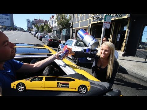 Using a RENTED Ferrari Limo to pickup girls