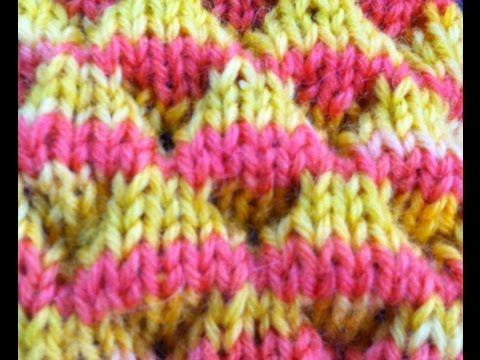 Knit Dimple Stitch aka Bubble Stitch - YouTube