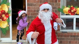 Santa Surprise Sally with new Toys for Kids