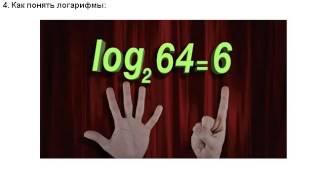 Видео Как понять логарифмы