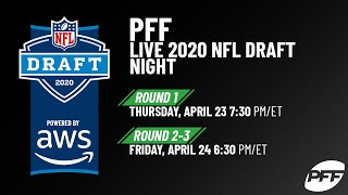 PFF's LIVE 2020 NFL Draft Show | Powered by AWS