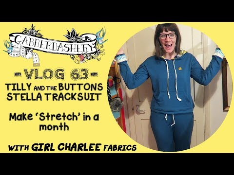 Making 'Stretch' - Tilly And The Buttons Stella Hoodie and Joggers with Girl Charlee | Vlog 63