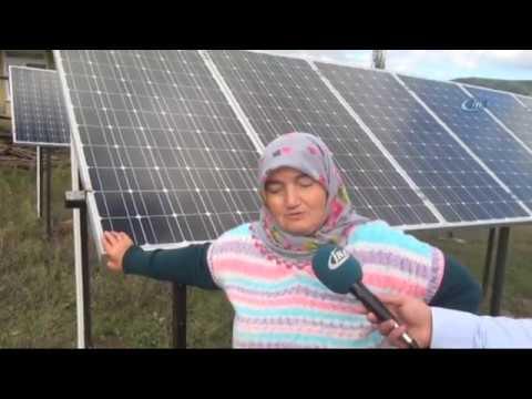 Evinin Bahçesine Güneş Enerji Santrali Kuran Kezban Teyze Herkese Örnek Oldu