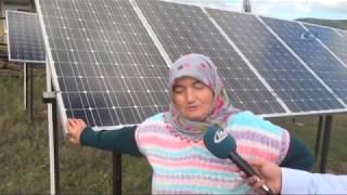 Evinin Bahçesine Güneş Enerji Santrali Kuran Kezban Teyze