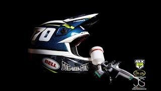 Bri-Ice Special Helmet / Bell Moto 9 flex carbon custom painted