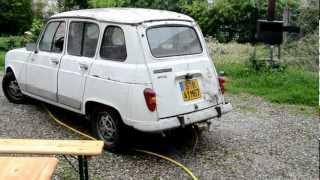 Redémarrage Renault 4L GTL Clan de 1987 après 3 ans d'arrêt