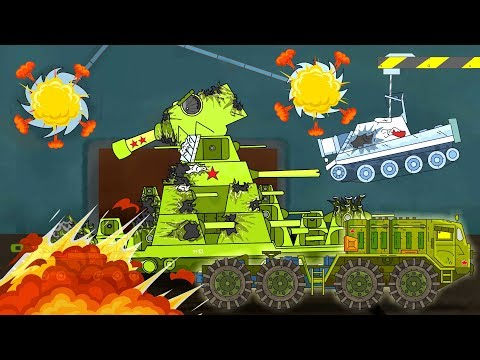 Tank at the factory. Monster Truck children. Cartoon about tanks in english. World of tanks.