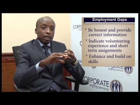 How To Deal With Employment Gaps In Your CV.