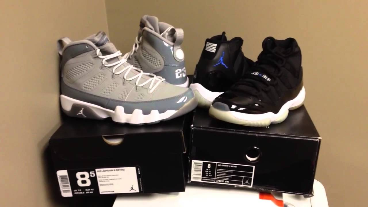 Space Jams   Cool Grey 9 s for sale - YouTube 2b451deccb8d