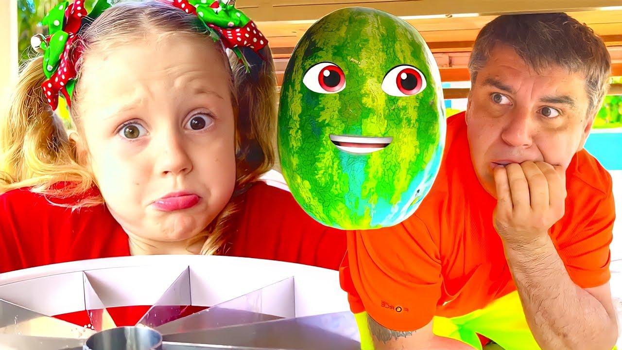 ناستيا وبطيخ مضحك! حكاية خرافية للأطفال باللغة العربية