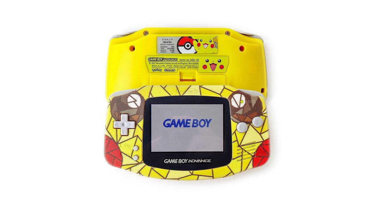 Pokémon Pikachu SE | Nintendo Game Boy Advance Backlight AGB-101 custom mod