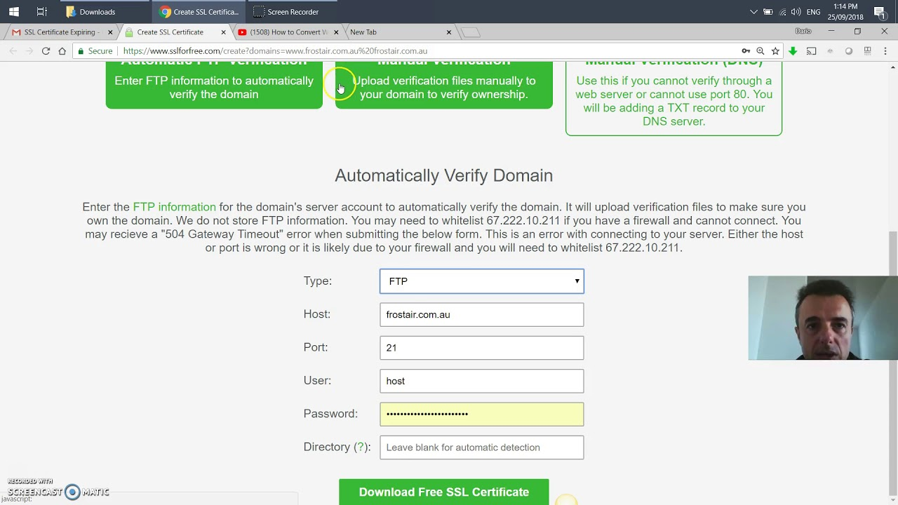 How To Update Your Free Lets Encrypt Ssl Certificate Youtube